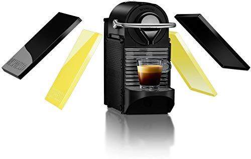 Krups Nespresso Pixie Clips XN3020 Kaffeekapselmaschine (0,7 Liter) schwarz und electric lemon (Generalüberholt)