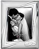 Valenti&Co – Marco de fotos de plata 18 x 24 cm. Ideal como regalo para boda o para la madre y el padre.