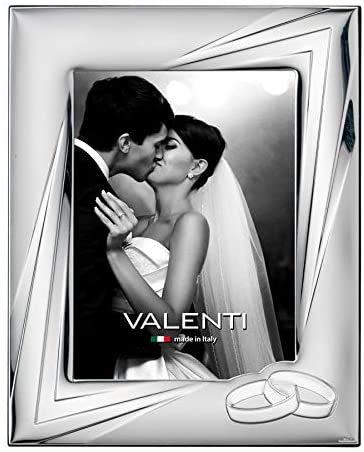 Valenti&Co - Cornice Portafoto in Argento cm 18x24. Ideale Come Regalo per Matrimonio o per la Mamma e papà.
