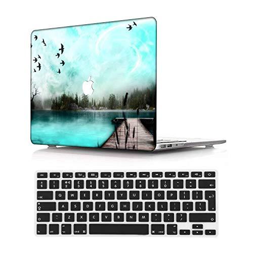 NEWCENT MacBook Pro 15' Funda,Plástico Ultra Delgado Ligero Cáscara Cubierta EU Teclado Cubierta para MacBook Pro 15 Pulgadas con Touch Bar Touch ID(Modelo:A1707/A1990),Menta Verde 29