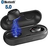 Bluetooth Kopfhörer in Ear V5.0 POPCHOSE Earphones Kabellose/Wireless Kopfhörer, Bluetooth Headset Stereo-Minikopfhörer, Wasserdicht IPX5 Sport Kopfhörer, Kopfhörer mit Mikrofon 16HR-Spielzeit