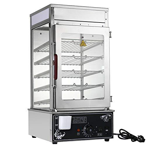 Commercial Bun Steamer, 110V 1200W Electric Hot Food Warmer Display 5-Layer Bun Bread Steamer Machine for Restaurant Kitchen Buffet (US Stock)