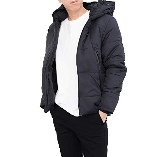 【極暖ダウン】 ダウンジャケット メンズ 『暖かさを極めたダウンジャケット』 ダウン 防寒 (ブラック, L)