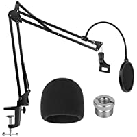 InnoGear Heavy Duty Microphone Stand with Mic Microphone Windscreen