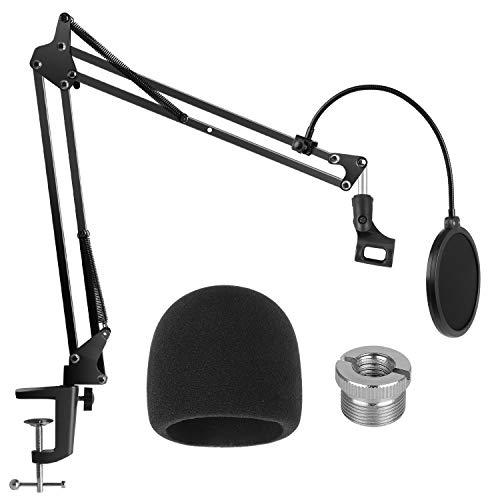 InnoGear verstellbarer Mikrofonständer, Mic Arm mit Mikrofon Pop Schiled, Mikrofonclip, 3/8 '' bis 5/8 '' Schraubenadapter und Mic Windscreen