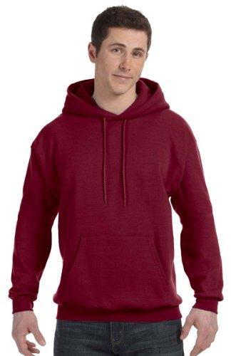 Hanes Mens ComfortBlend EcoSmart Pullover Hoodie Sweatshirt Cardinal