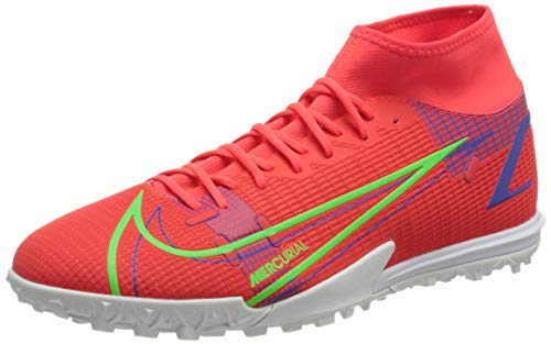 Nike Superfly 8 Academy TF, Scarpe da Calcio Unisex-Adulto, BRT Crimson/Mtlc Silver-Indigo Burst-White-Rage Green, 47 EU