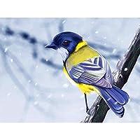 DIY 5D ダイヤモンドペインティング フルドリル 大人用 クロスステッチ クリスタルラインストーン 刺繍 ピクチャーアートクラフト ホームウォールデコギフト(40*50cm)-木の枝の上の鳥