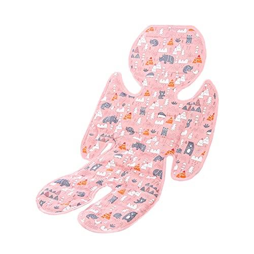 Colchoneta Carro Bebe Universal Colchoneta Silla Paseo Universal Verano Bebé de Mat Forro para cochecitos Cochecito del trazador de líneas Pink