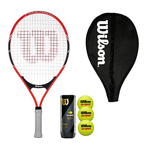 Wilson Federer 21 Junior - Raqueta de tenis con cubierta y 3 pelotas de tenis
