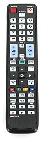 AIDITIYMI AA59-00443A Replacement for Samsung TV Remote Control UN40D6050TFXZX UN40D6300 UN40D6300S UN40D6300SF UN40D6300SFXZA UN46D6000SF UN46D6000SFXZA UN46D6000SFXZC UN46D6050 UN46D6050TF