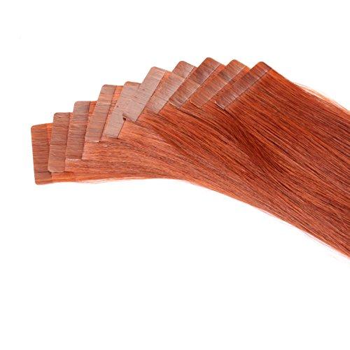 Just Beautiful Hair and Cosmetics Lot de 20 extensions capillaires avec bandes adhésives Cheveux naturels de qualité Remy Mèches de 2,5 g et 60 cm