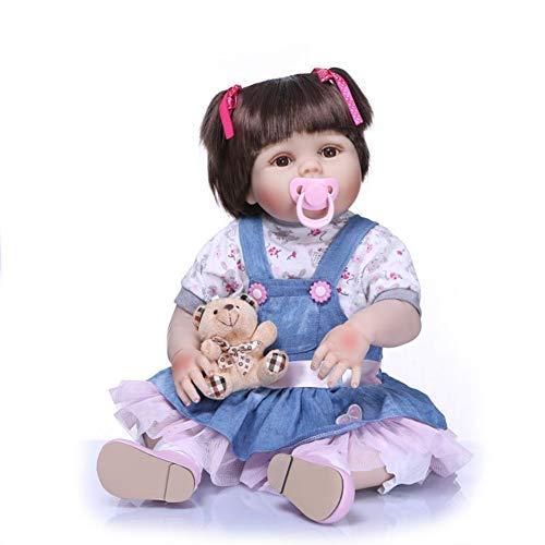 Zero Pam Bambole per neonati rinate lavabili da 23 pollici in silicone Corpo completo Anatomicamente corretto Bambole per neonati realistiche fatta a mano impermeabile per bambini Età 3+