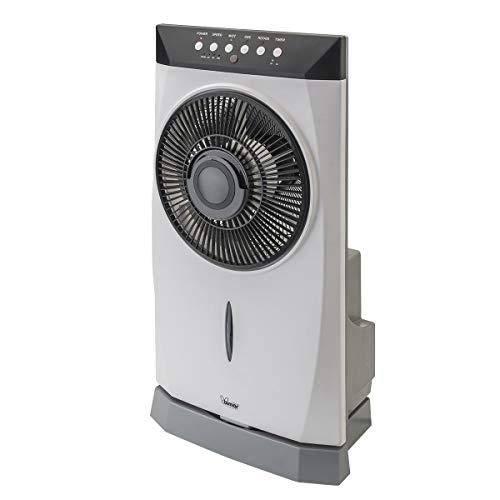Bimar VPN41 Ventilatore Nebulizzatore Acqua, Ventilatore con Telecomando Elettronico da 30cm, Nebulizzatore ad Ultrasuoni, Raffrescatore da Esterno, Serbatoio da 1,5 L, Elica Ø 25 cm 5 Pale