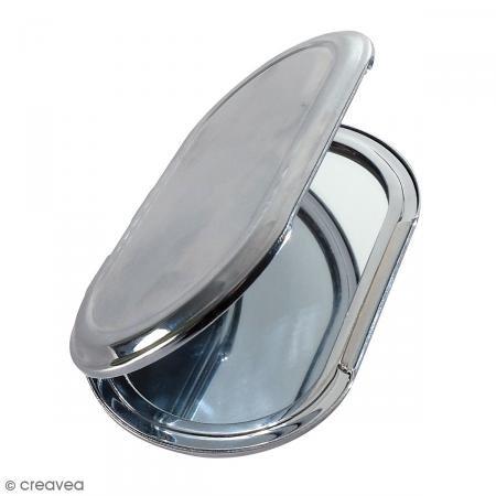 Seed Creative 268513Spiegel zum Dekorieren Oval Metall Silber 8,5x 5x 0,7cm