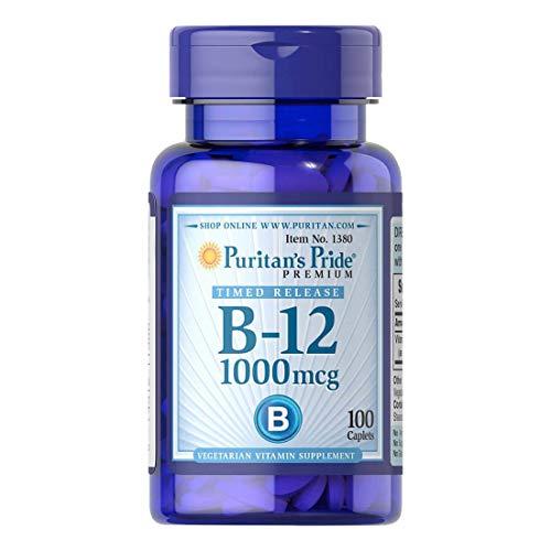 Vitamina B12 Puritans Pride 1000mcg 100 Cápsulas