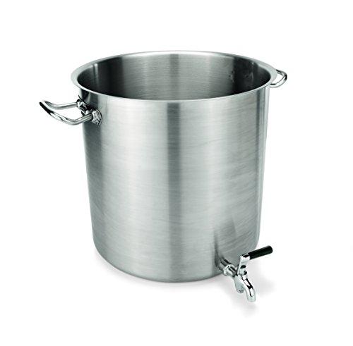 Gastro Edelstahl Topf Auslaufhahn 17 Liter Ø28cm Ausguss Abgießfunktion Induktion Ausgießer Hahn Kartoffelkocher Kartoffelkochtopf