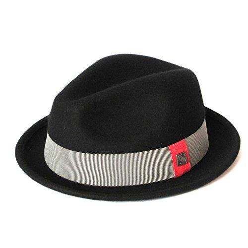 DASMARCA-Collection Hiver-déformable et Compressible-Chapeau en Feutre de Laine Noir-Ronald-L