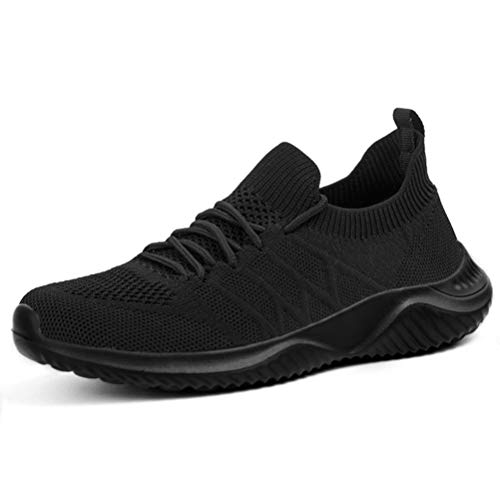 Womens Sneakers Slip on Shoes Comfy Sock Tennis Work Non Slip Workout Running bagivy kuru granteva Shoe All Black Size 6 -  Akk