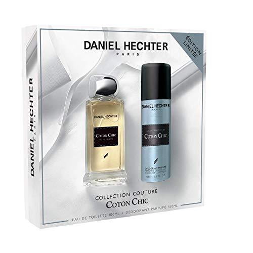 Daniel Hechter, Ecrin Collection Couture Coton, Coffret Cadeau Homme, Parfum 100 mL et Déodorant 150 mL
