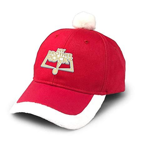 Sombrero de camionero My Brother Rocks Heavy Metal Navidad Sombrero de bisbol de algodn para pap Sombrero de Pap Noel Disfraz Rojo