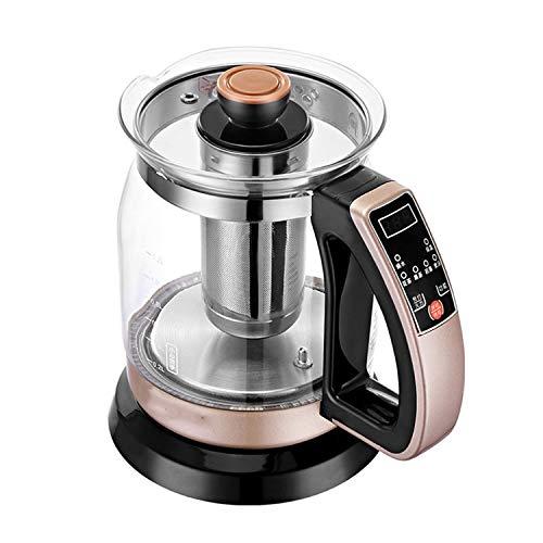 Teekocher Elektrisch Automatisch 2 in 1 Teekocher und Wasserkocher elektrisch 1.2L the Smart Tea Infuser Compact Tea Maker mit Permanent Edelstahl-Teefilter Teekocher Elektrisch Warmhalten (700w)