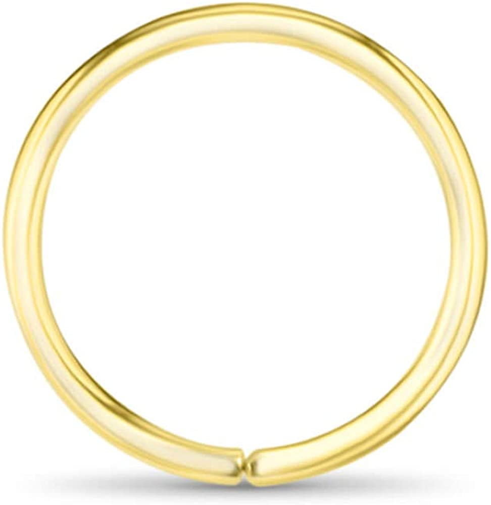 18k Gold Plated 925 Sterling Silver Nose Ring Seamless Continuou