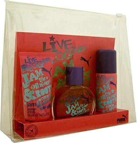 Puma Jam Mujer Gift Set EDT 40ml, 50ml Gel de ducha y desodorante 50ml, 1er Pack (1 x 140 ml)
