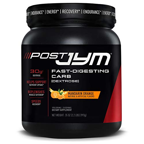 JYM Supplement Science Post Fast-Digesting Carb - Post-Workout Recovery Pure Dextrose   JYM Supplement Science   Mandarin Orange Flavor, 30 Servings, 2.2 Pound, 35.04 Ounce