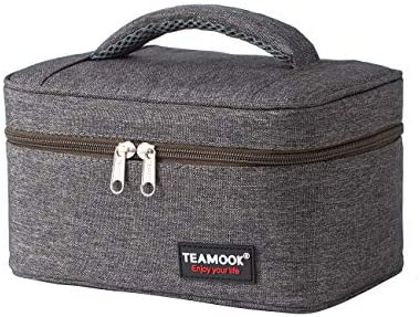 TEAMOOK Small Lunch Bag Mini Lunch Box Insulated Portable for Adults Men Women Work with Handle product image