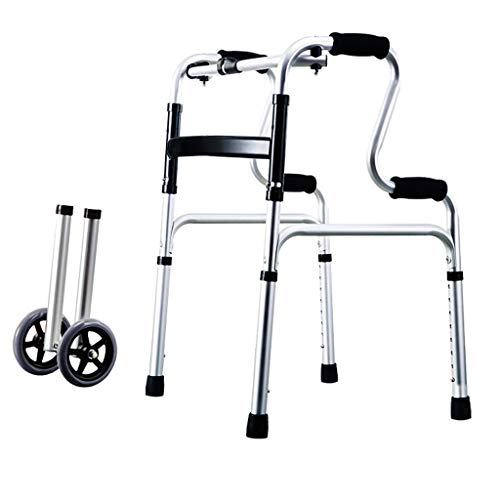 Walking Frame Walker Drive Folding Leichte Gehhilfen Walker Health Care Höhenverstellbar für ältere Menschen, Senioren, Behinderte, max. 180 kg Zusammenklappbarer tragbarer Rollator auf Rädern