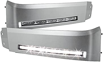 Jdragon for 2007-2013 Toyota Tundra 2008-2013 Sequoia Silver Bumper LED DRL Lights Xsp-X Set