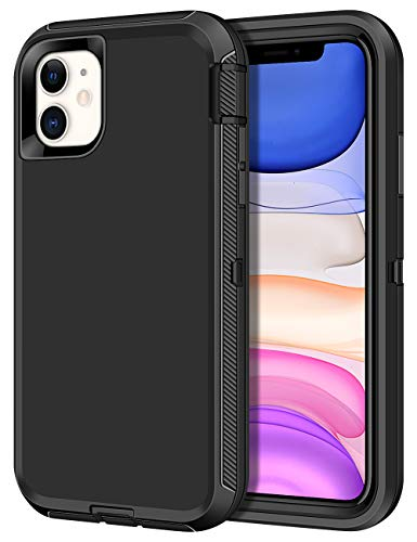 CHEERINGARY Case for iPhone 11 Case Protective Shockproof Heavy Duty Anti-Scratch Cover iPhone 11 Case for Men Women Full Body Protection Dust Proof Anti-Slip Cover for iPhone 11 6.1 inches Black