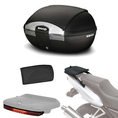 Sh45lurehe20 - fitting kit + rear trunk suitcase + brake light + backrest gift sh45 compatible with ktm duke 125/390 17 ktm duke 390 2017-2017 ktm duke 200 2017-2017 ktm duke 125 2017-2017