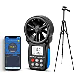 HOLDPEAK HP-866B-APP Anemometer & a Large Tripod with APP Wireless Bluetooth Auto Connect to Mobile Phone for Measuring and Recording Wind Speed, Temperature, Wind Chill