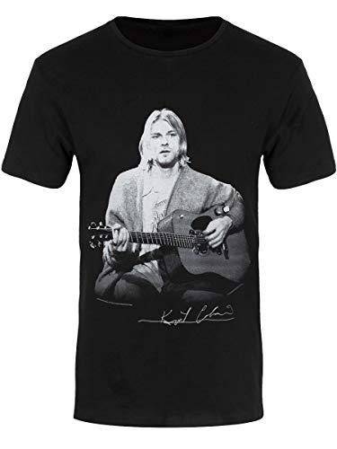Kurt Cobain Herren T-Shirt Guitar Live schwarz