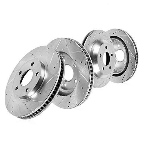 Callahan CDS03230 FRONT 347.94mm + REAR 344.94mm D/S 5 Lug [4] Rotors [ fit BMW 535 550 650 740 Series ]