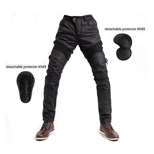 Pantalones De Ciclismo Elásticos Protectores Para Motocicletas, Pantalones De Moto Jeans A Prueba De Viento, Pantalones De Montar Retro Para, Pantalones Anticaídas Otoño E Invierno (M)