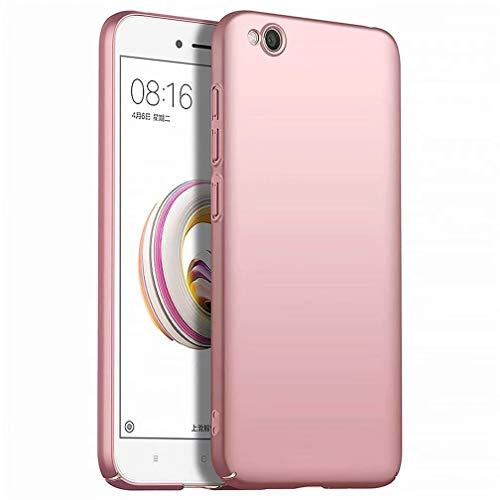 WYRMS Compatible con Xiaomi Redmi GO Funda PC de Silicona,Ultra Delgado Parachoques Carcasa de Telefono a Prueba de Golpes Resistente a Los Arañazos Caso-Oro Rosa