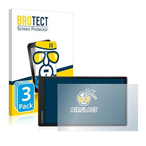 BROTECT Panzerglas Schutzfolie kompatibel mit Garmin DriveSmart 55 (3 Stück) - 9H Extrem Kratzfest, Anti-Fingerprint, Ultra-Transparent