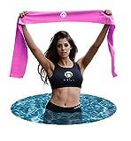Belus Extralange Fitnessbänder - 2,5 m Lange Pinke, Flache Stretchbänder mit Tragebeutel. Ideal...