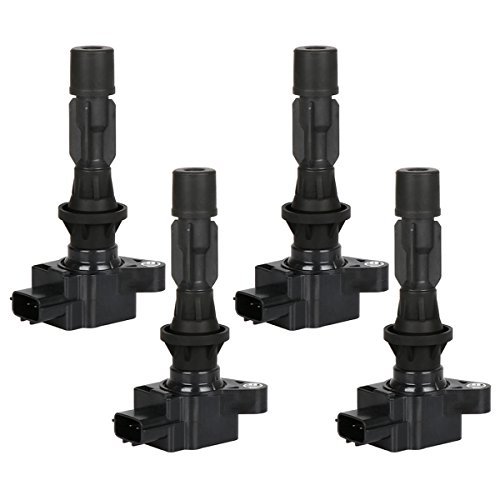 Ignition Coil Pack of 4 Replacement for L4-2006-2013 Mazda 3 2006-2013 Mazda 6 2007-2012 Mazda CX-7 2006-2015 Mazda MX-5 Miata, Replaces OE# UF540 L3G218100A