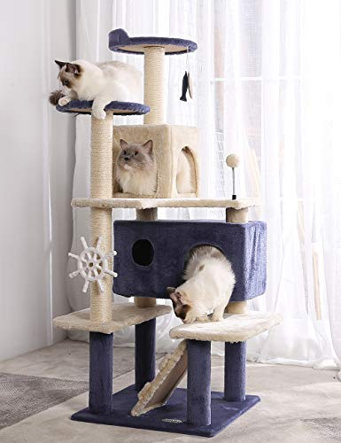 HYABI 53inches Multi-Level Cat Tree Comfortable Luxury Cats Perched Kitten Activity Play House