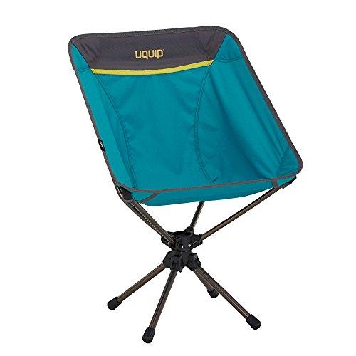 Uquip Three Sixty Leichtgewicht Camping Stuhl mit Tragetasche, 360° Drehgelenk, Blau