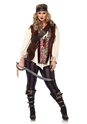 Leg Avenue Women's Plus Size Captain Blackheart Costume, Multi, 3X-4X