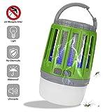 JHSHENGSHI Lámpara Anti Mosquitos,UV Recargable Eléctrica,Electronic Bug Zapper Lámpara Trap USB Mata Insectos Electrico Mata Moscas Mejor Solución contra Mosquitos, Green