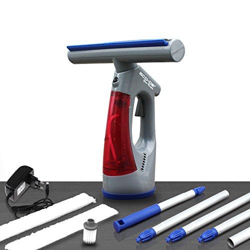 ECODE Aspirador limpiacristales eléctrico sin Cables con bateria de Litio Clean Window....