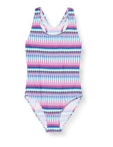 Sanetta Mädchen Badeanzug, Blau (Blau 5999), (Herstellergröße: 164)