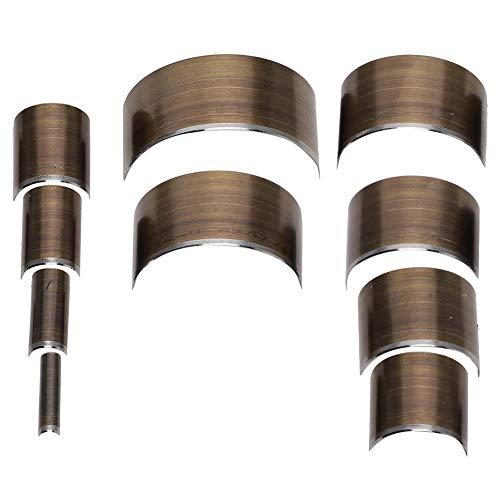 【2021 Neujahrsspeziell】Leder abgerundetes Messer, praktische, starke Verarbeitung, Leder V-Form Stanzer, A28 Halbkreis 10-teiliges Set).