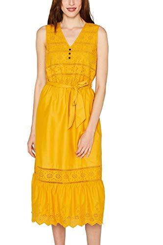 ESPRIT Damen 059EE1E008 Kleid, Gelb (Brass Yellow 720), (Herstellergröße: 36)